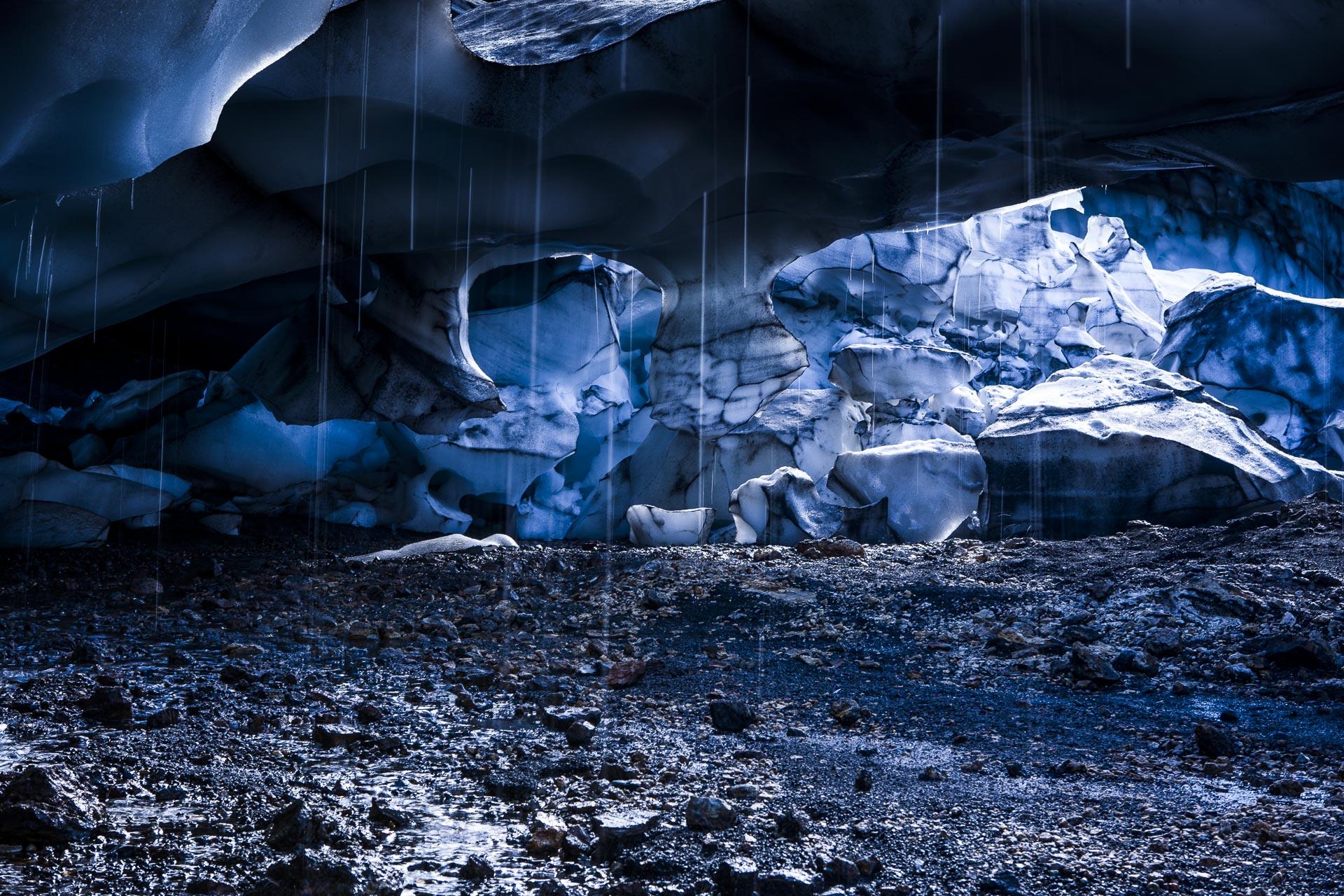 Front de glacier,  Landmannalaugar, Suðurland, Islande