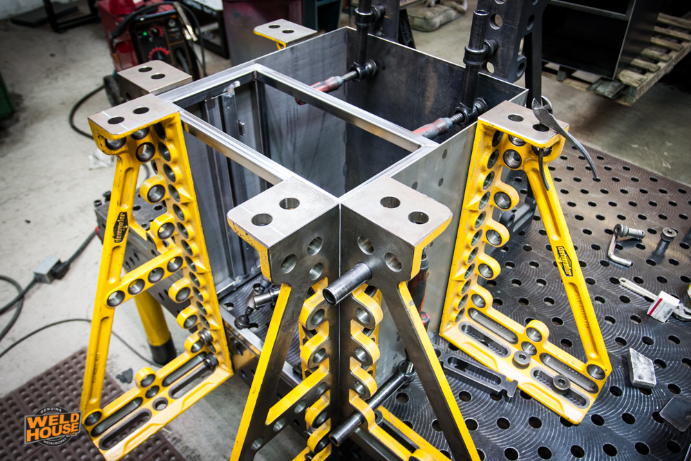 We create a temporary JIG on 99% of our parts to ensure proper alignment during welding