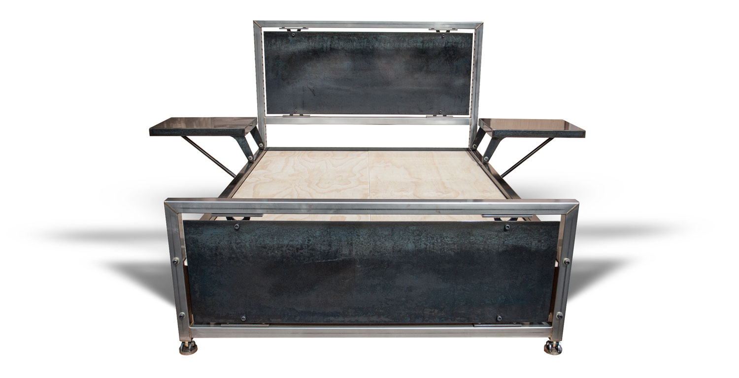 Luxe-king-steel-bed-frame