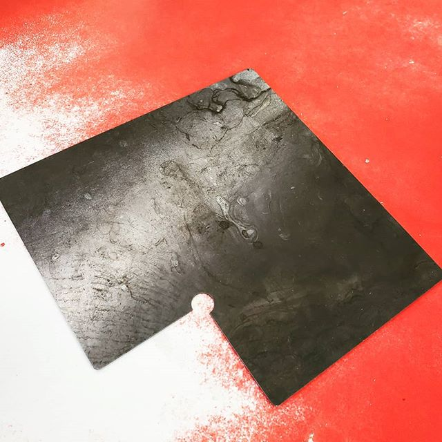 Handy laser cut 14ga. template for common & repeat notch sizes. Makes setting up a manual notcher very quick, accurate and they improved the quality of our pans. #notcher #shearing #welding #fabrication
