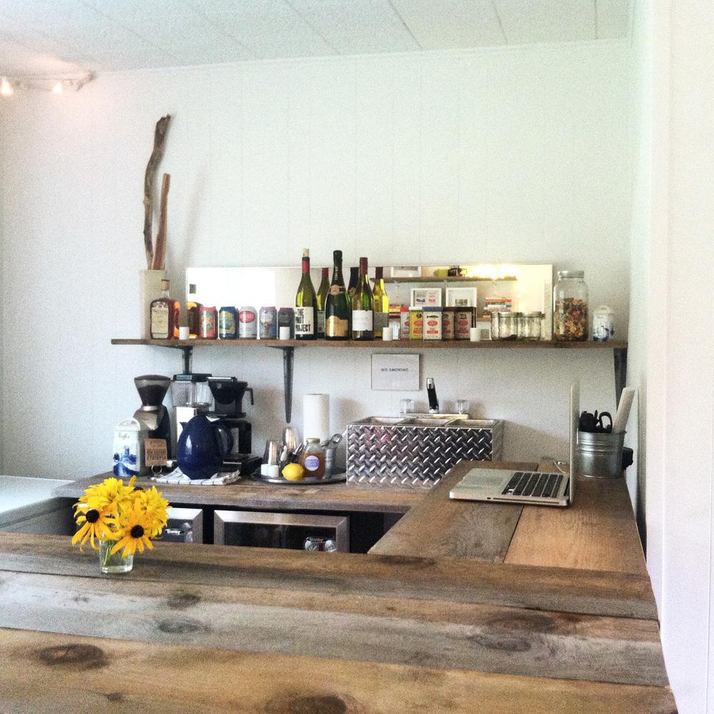 Bar set up by Casey Scieszka