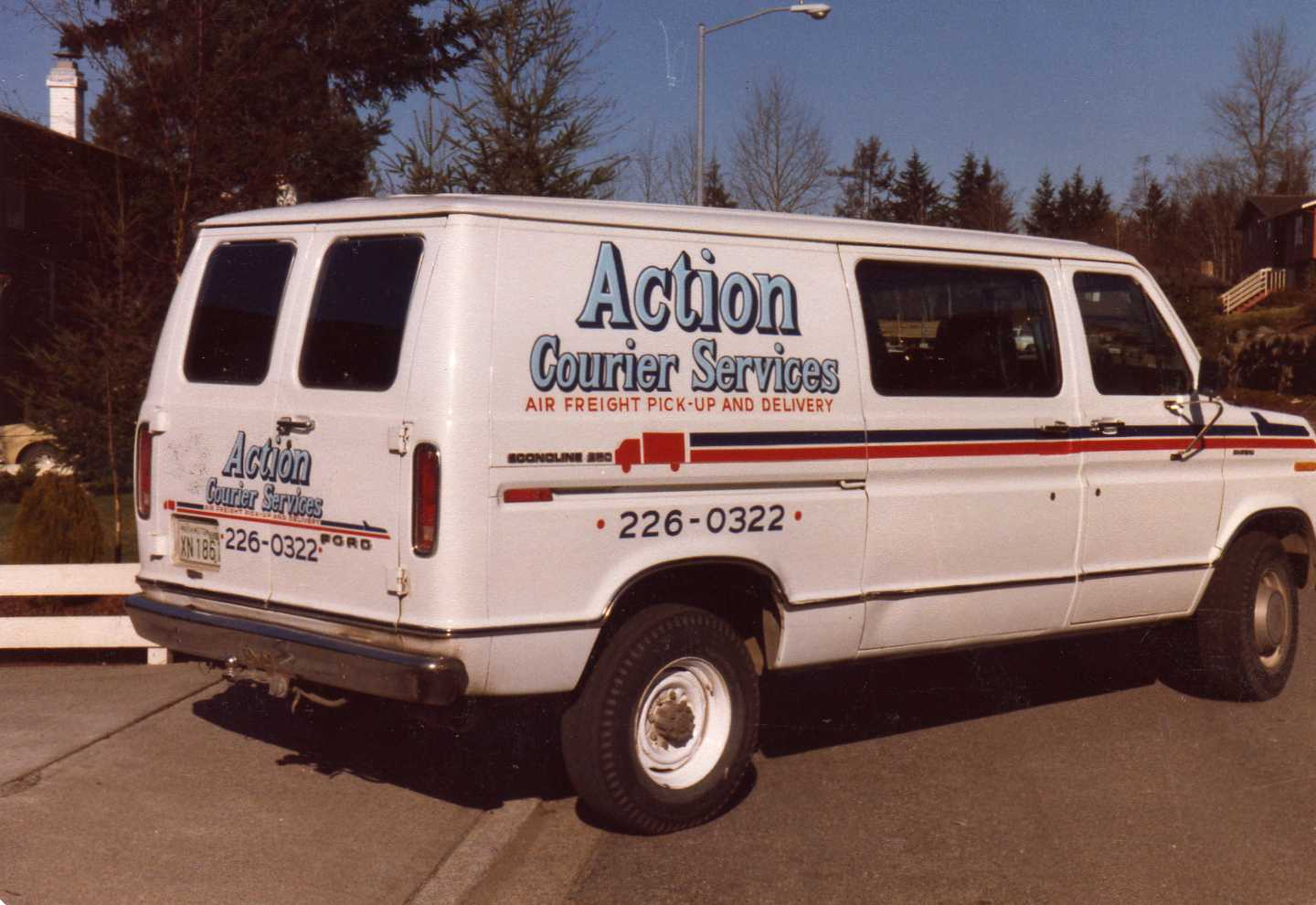 Picture of our first company vehicle purchased in 1980