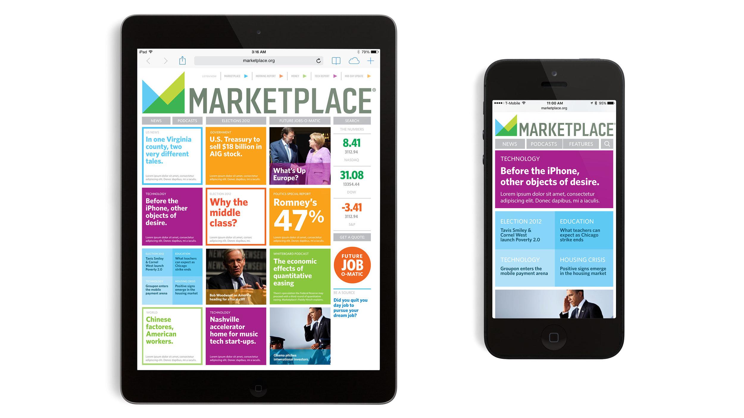 Marketplace Website & Mobile