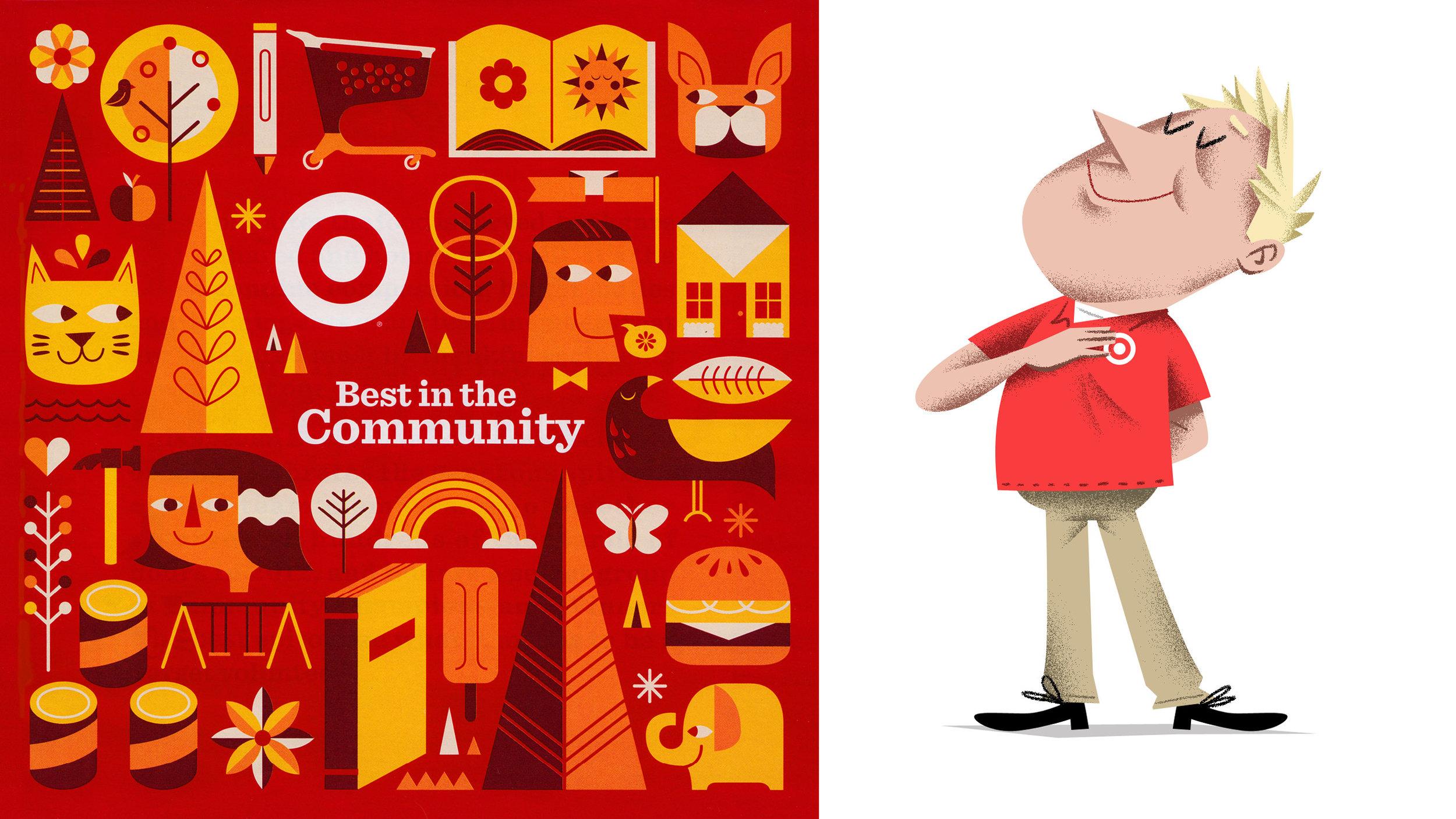 Target RED Illustration