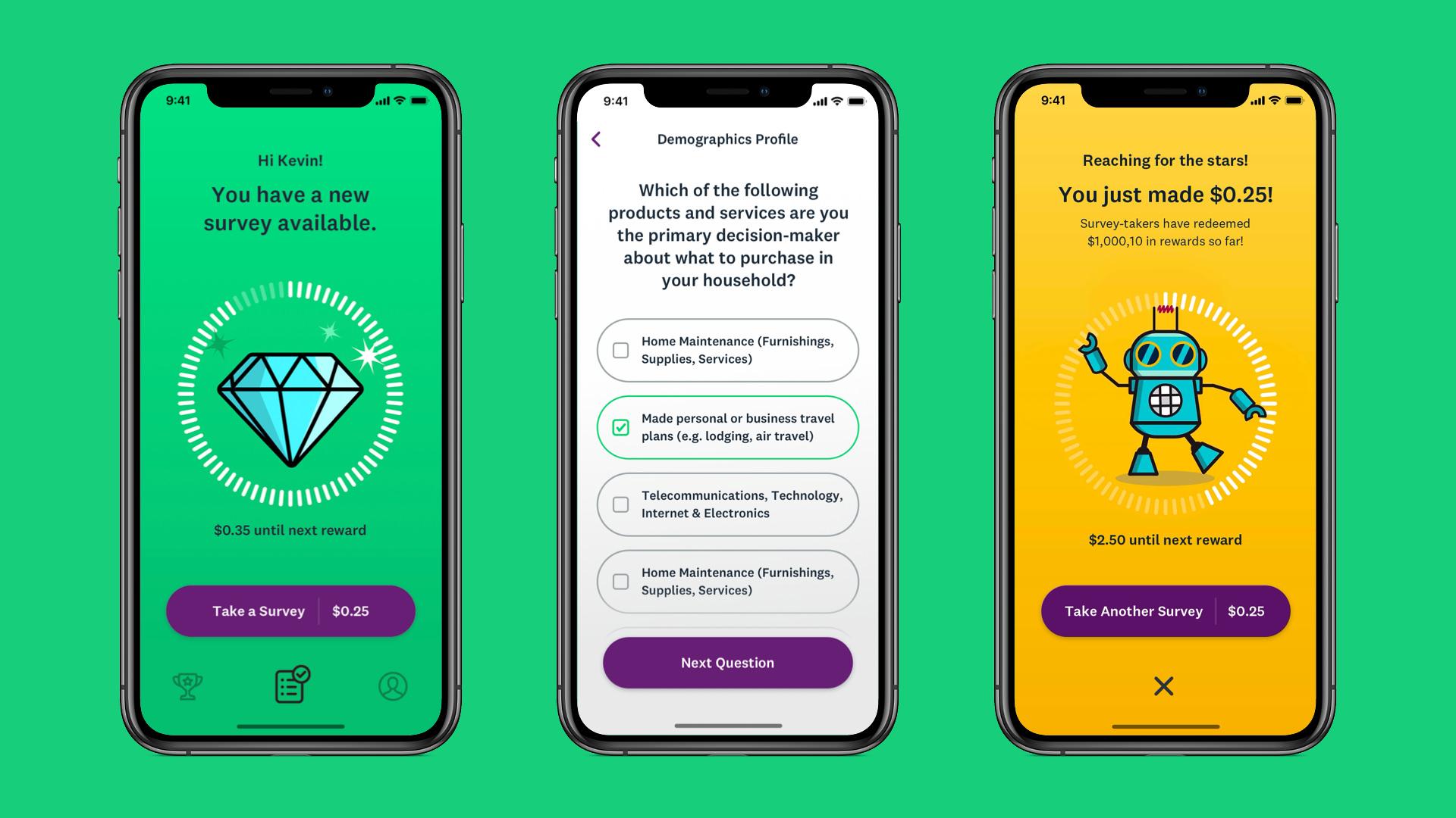 SurveyMonkey Rewards Product Design