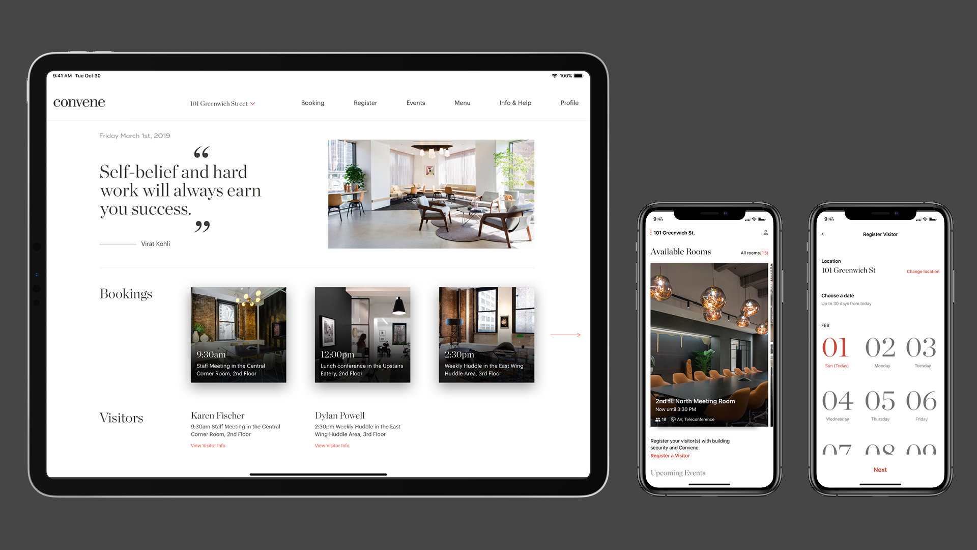 Convene Workplace Web & App Design