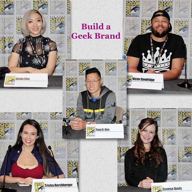 When building anew, the work will be inundating, but panels like this one — Building a Geek Brand — helps us not be as afraid. @crazy4comiccon @vantageinhouse @stellachuuuuu @thatgrltrish Thanks for sharing and asking me to share moments that have been career- and life-changing. 💚 @comic_con #sdcc #comiccon #creativity #entrepreneur #geek #careerchange