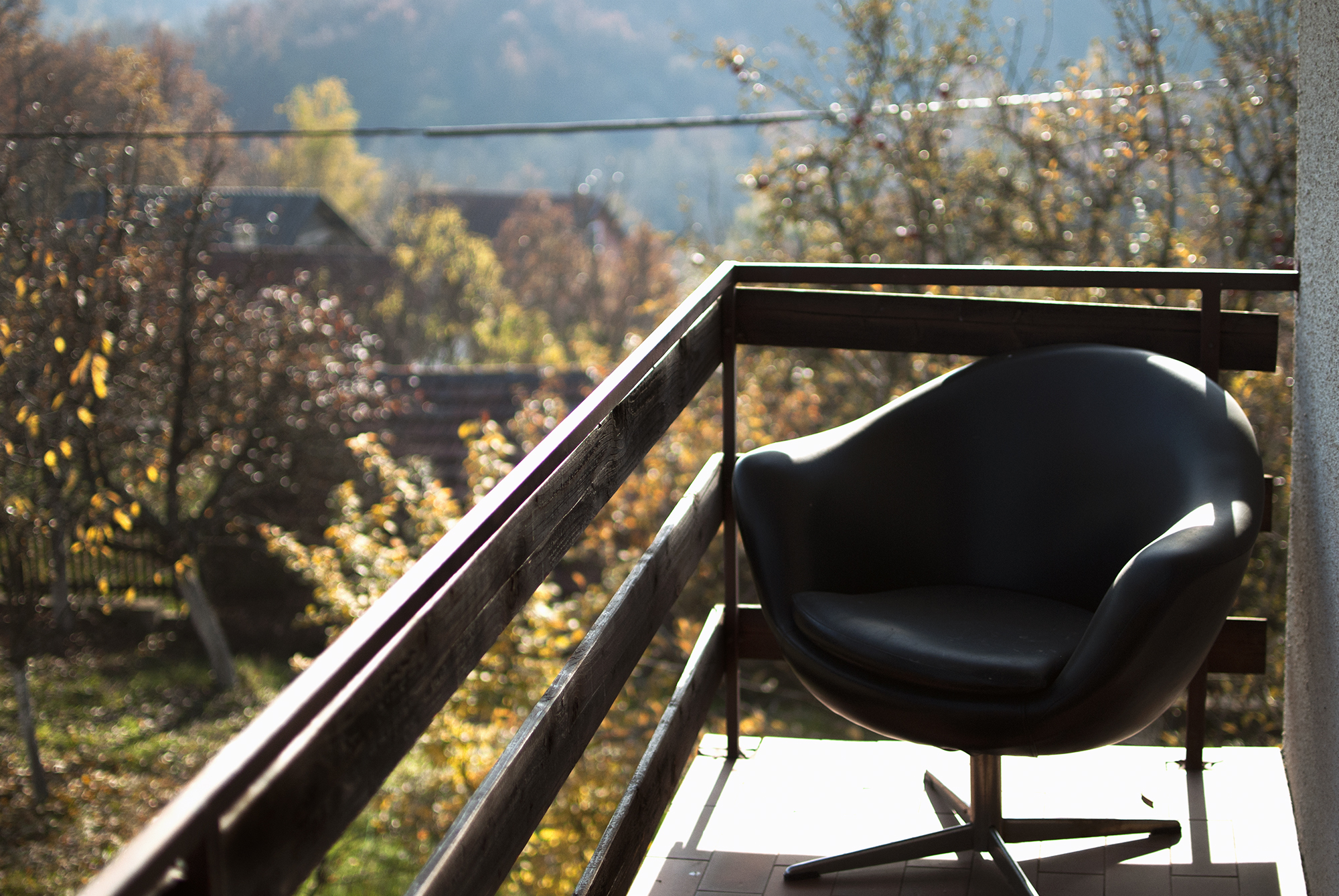 A Chair With a Great View of Autumn - November 2015