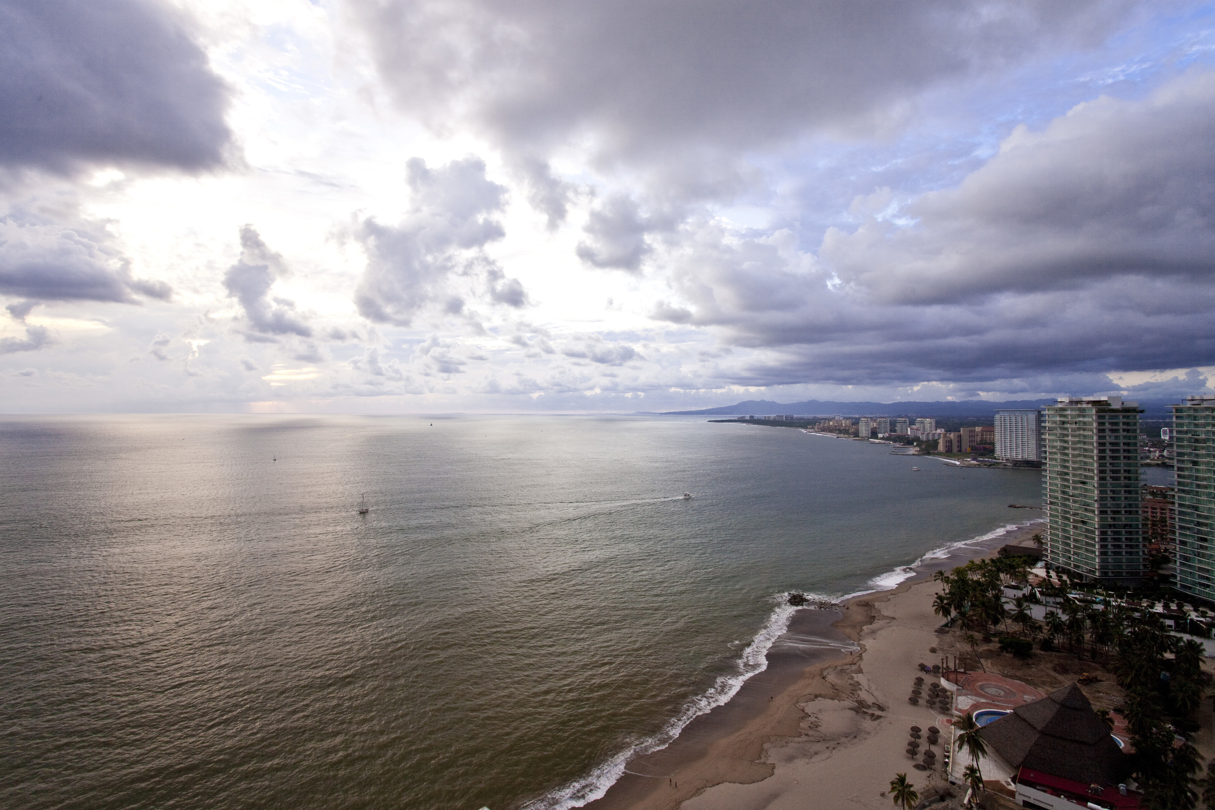 Balcony at Puerto Vallarta condo for rent