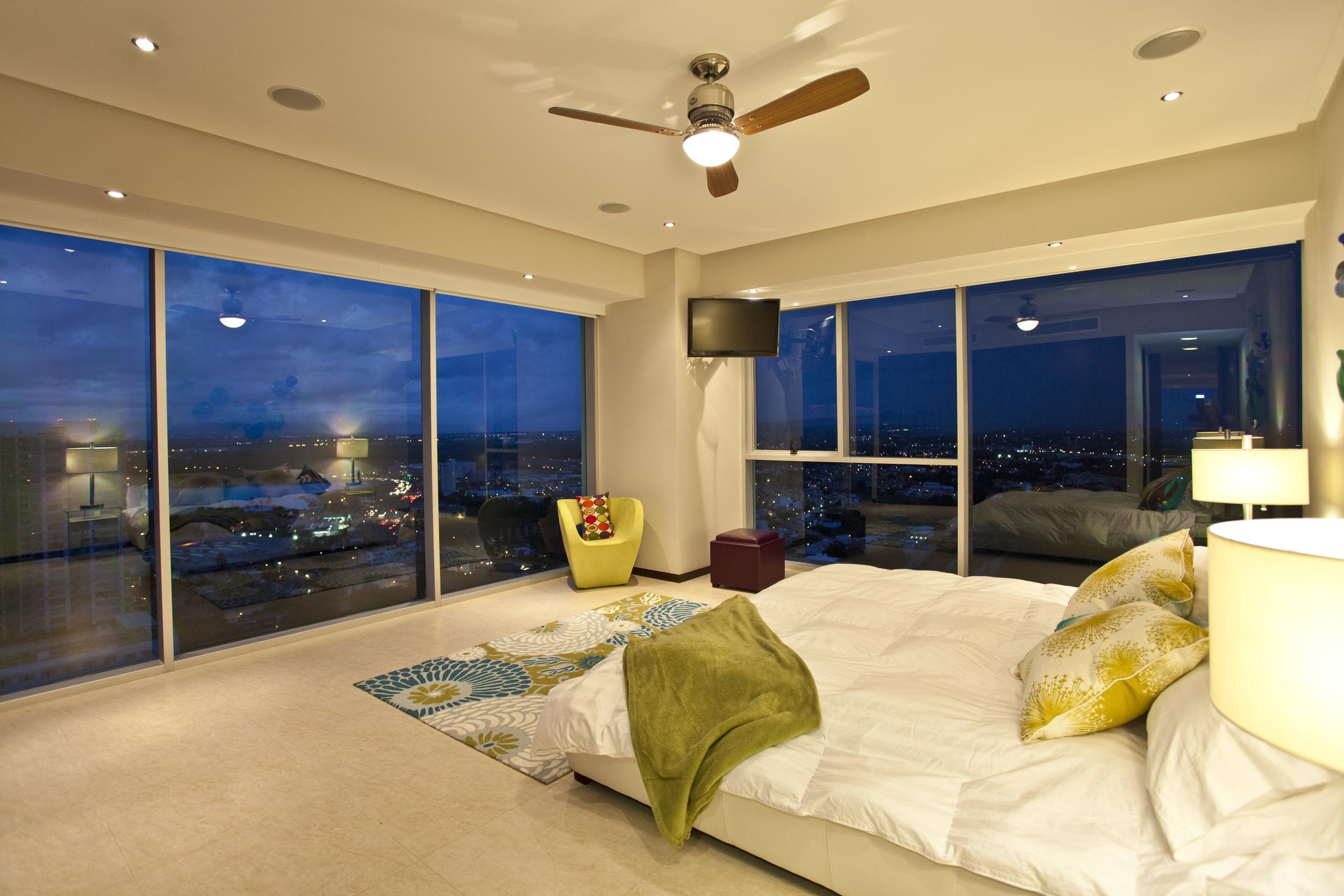 Luxurious bedroom at Puerto Vallarta villa for rent