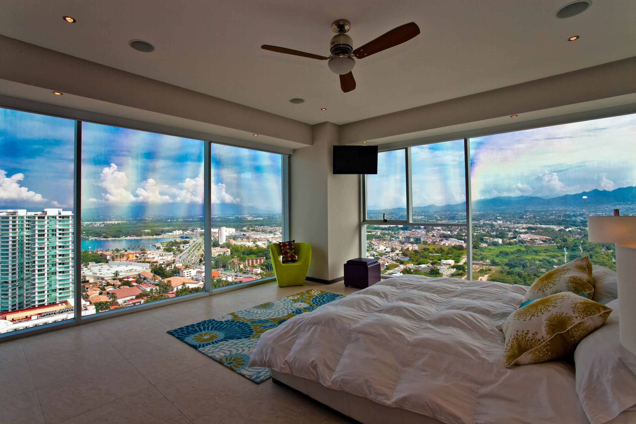 Puerto Vallarta penthouse rental marina bedroom