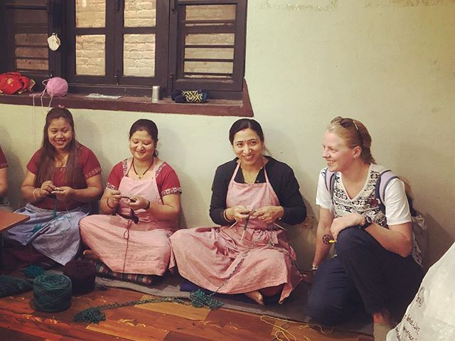 """Today I had the pleasure of meeting the incredible talent behind our #boomboxbeanie Having walked around this """"factory"""" I can assure you that all the workers are treated well, and empowered by their ability to make money on their own. Proud to be supporting women in Nepal! #findyourlahlahland #nepal2019 #womanpower"""