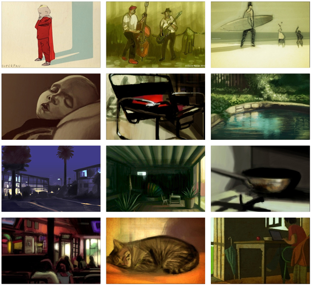 Montage of some of my iPhone and iPad paintings. For more please  click here.