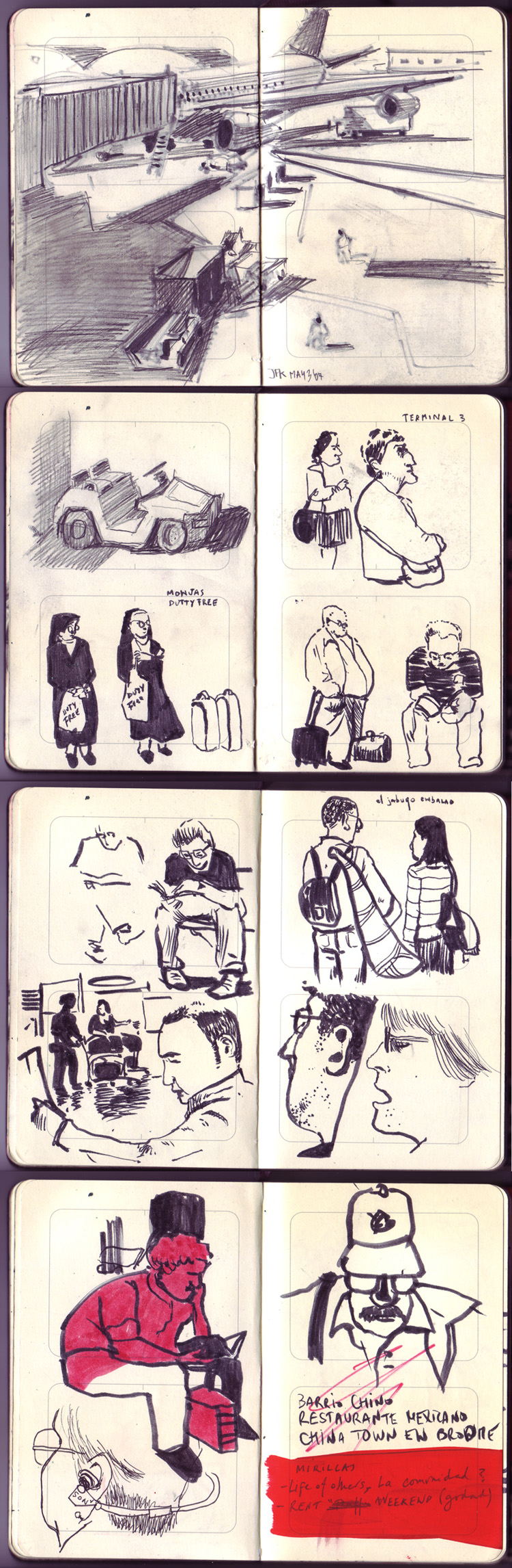 Sketches on Moleskine (2009)