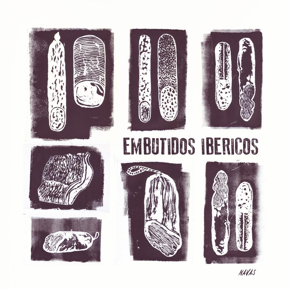 Embutidos Ibéricos. Monotypes (2013)