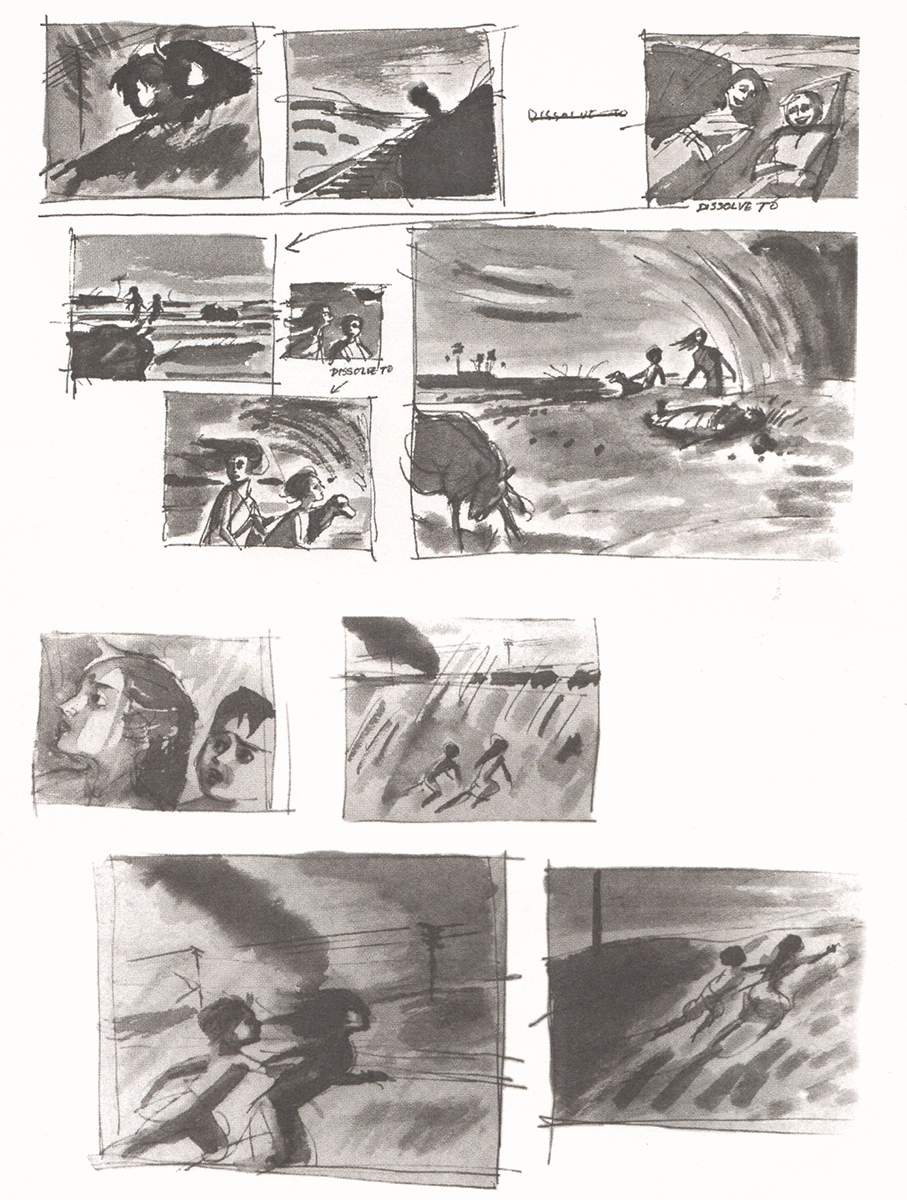 Ray's wash-sketches for his first film 'Pather Panchali' (1955)