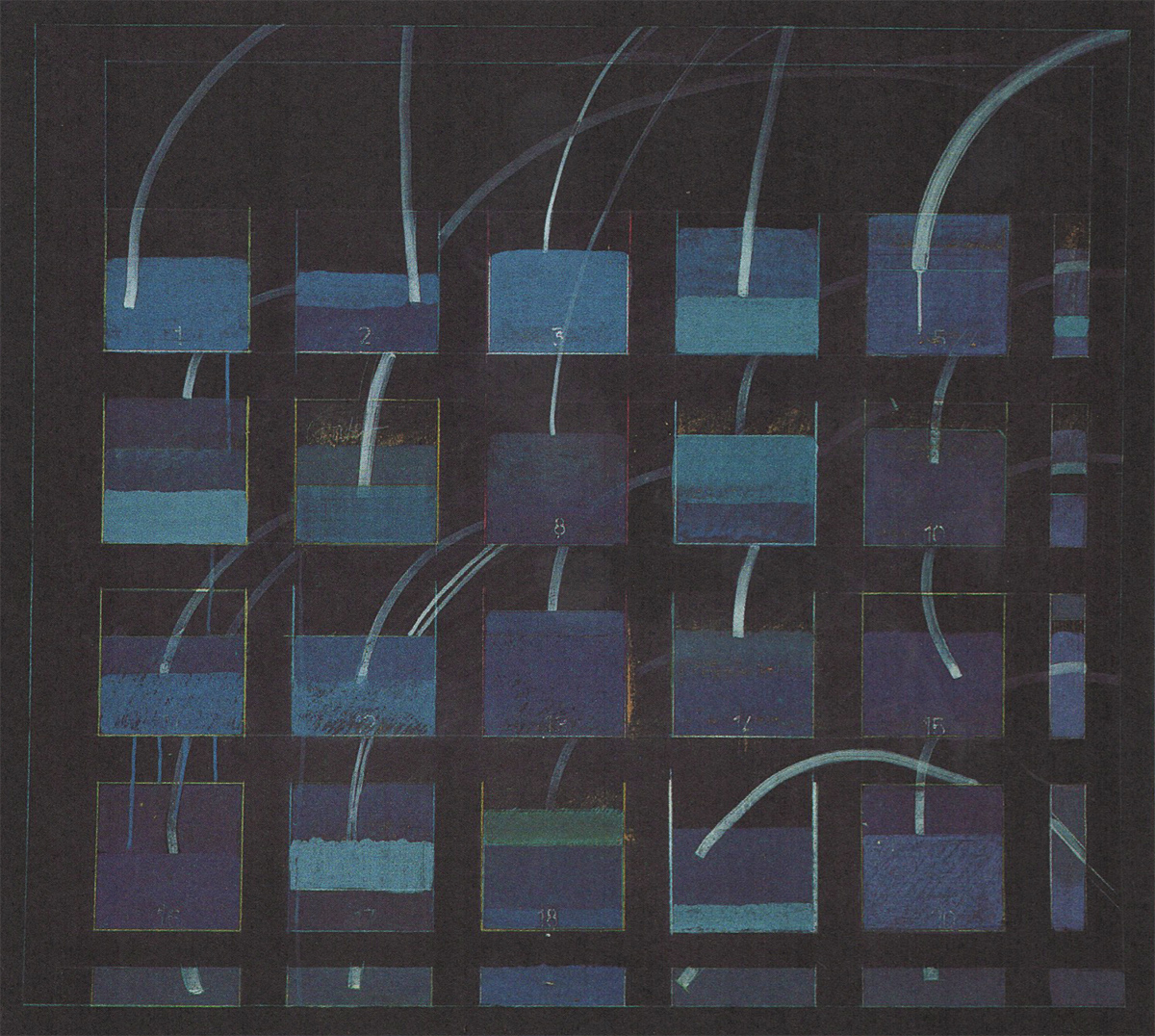 'Icarus Falling into Water', 1997 (mixed media on card)