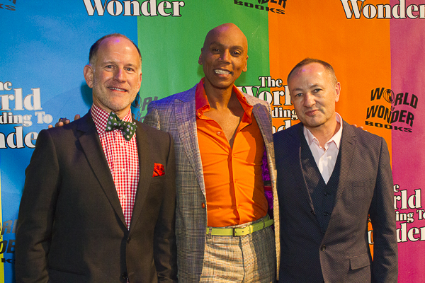 Randy Barbato, RuPaul Charles & Fenton Bailey at the World of Wonder Holiday party and book launch, December 2012