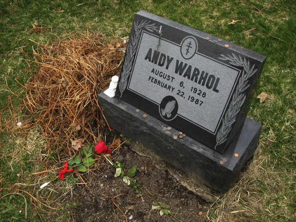 Photograph of Warhol's gravestone by Todd Eberle