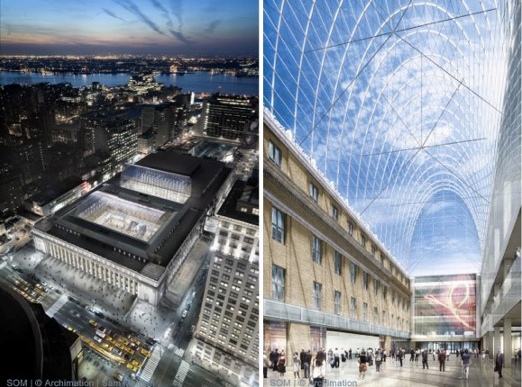 SOM's Moynihan Station plans. Phase 1 due to be completed in 2015.