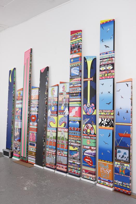 Erik Parker,  New Magnetic Destiny,  2013 Installation view