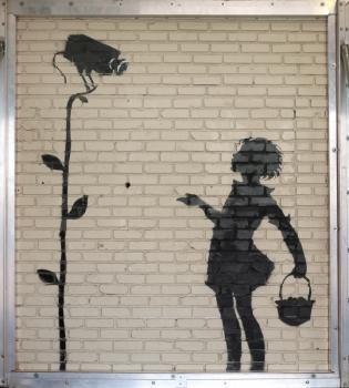 Banksy,  Flower Girl  , 2008