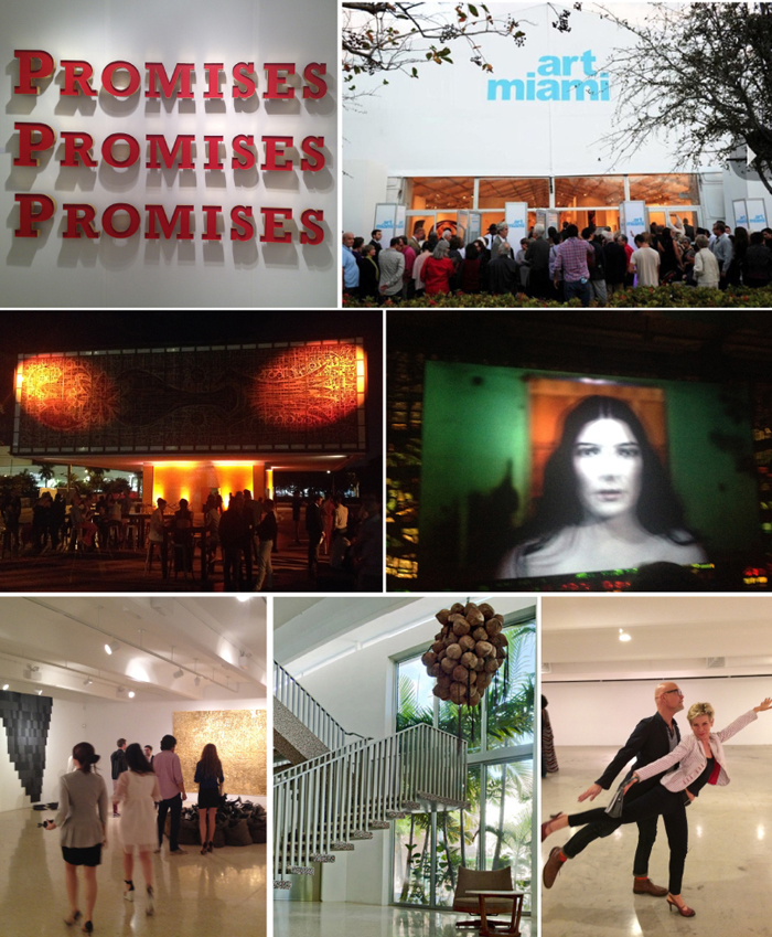 """(Photos: Brett Murray's Promises at Dean Project, Art Miami, Visionaire at Young Arts, fuzzy Marina Abramovic in 3D, The M Building and Min and I in """"Art on Ice"""")"""