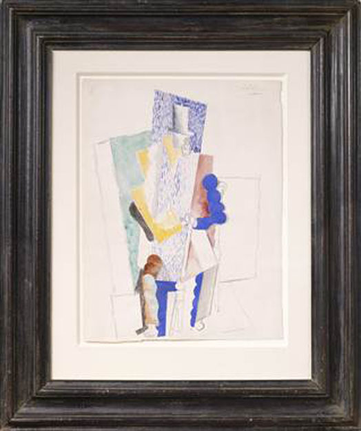 Pabo Picasso, 1914, L'Homme au Gibus, drawing on paper