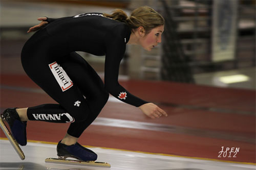 Speed skater Anastasia Bucsis