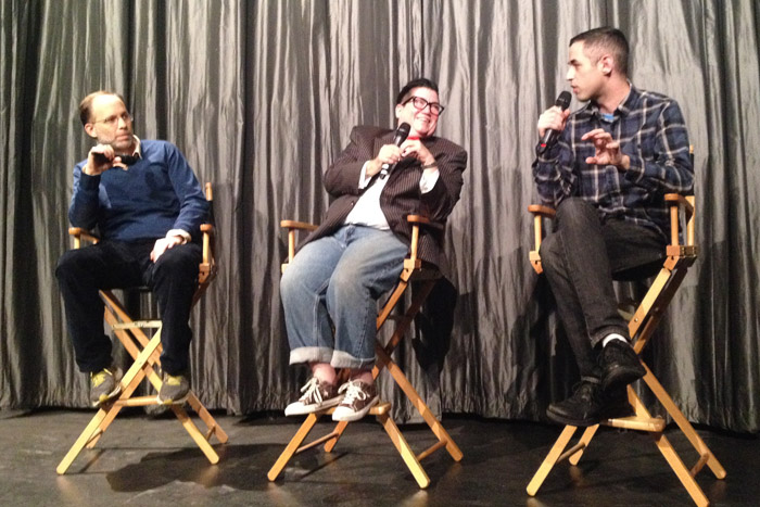 Ira Sachs, Lea Delaria and Aaron Rosen discuss Rebecca for Queer/Art/Film at IFC in New York City