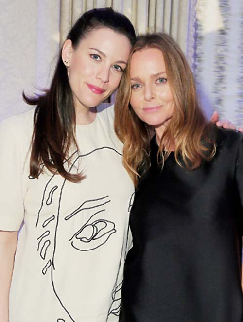 Stella with Liv Tyler wearing a Gary Hume print
