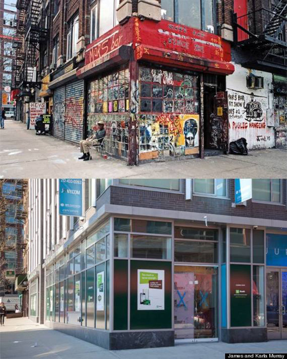 Mars Bar, a dive, closed in 2011 replaced by a TD Bank