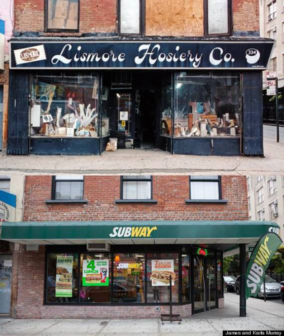 Lismore Hosiery Co., a decades-old hosiery wholesaler was replaced by Subway