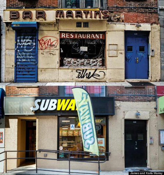 Bar Martins, a local watering hole on Houston , replaced by Subway
