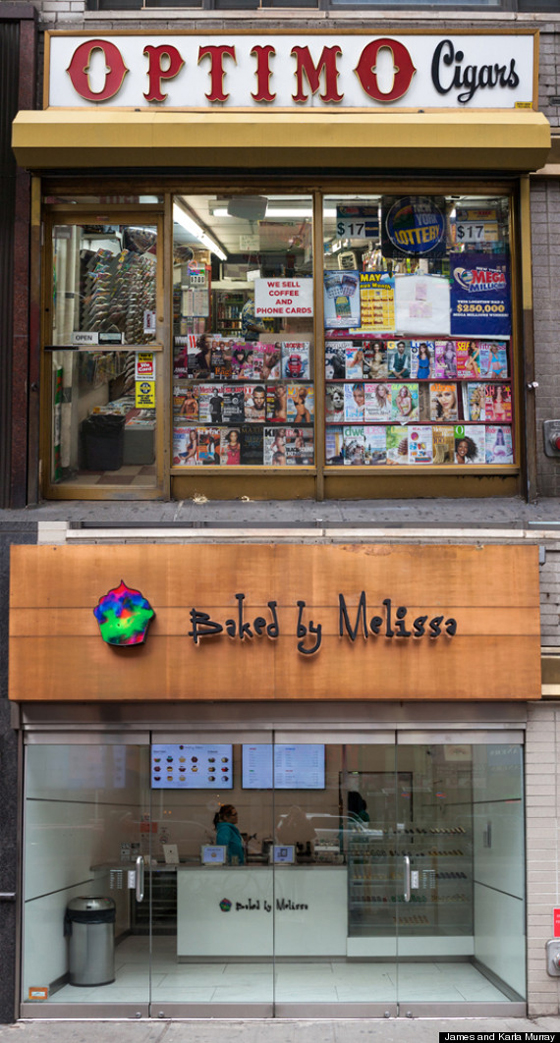 Optimo Cigars, a bodega in Union Square, replaced by Baked by Melissa cupcakes