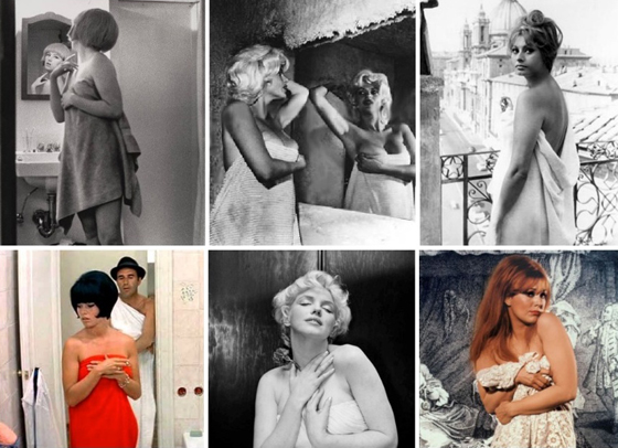 Top left; Cindy Sherman,  Untitled Film Still ; Sherman's movie source material