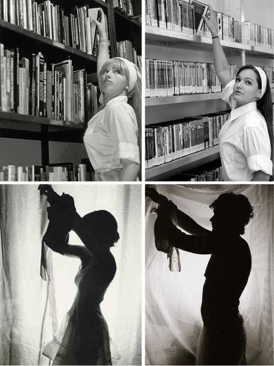 Top; Cindy Sherman, unknown hommage: Bottom; Cindy Sherman, James Franco