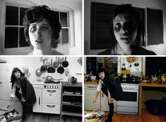 Left; Cindy Sherman: Right; Unknown hommages