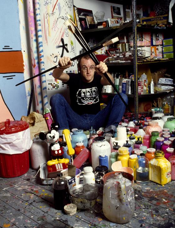 Keith Haring, Brushes, New York, 1985