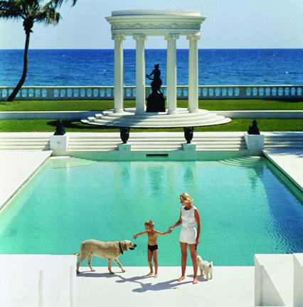 C.Z. Guest and her son Alexander at their home Villa Artemis in Palm Beach, 1955