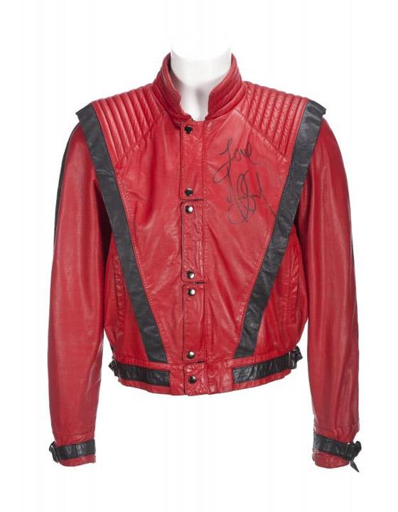 Signed Thriller jacket