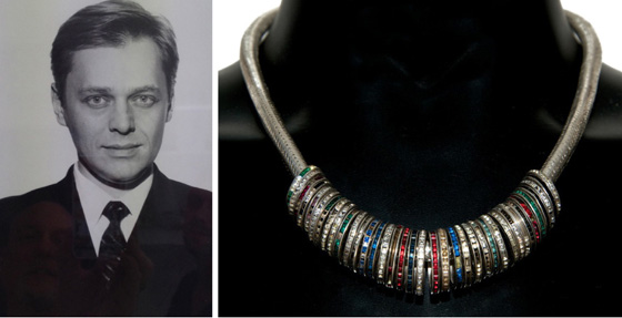 """Miles Chapman just off the boat when we first met and his """"10 Years of Eternity"""" necklace"""