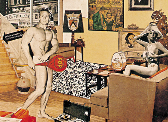 "Richard Hamilton's ""Just what is it that makes today's homes so different, so appealing?"", 1956"