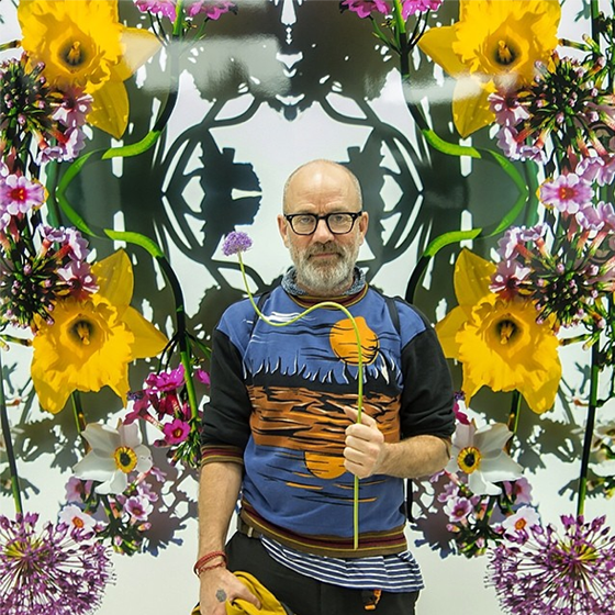 Michael Stipe at the Flowers opening