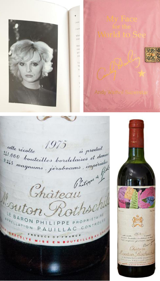 Candy & Wine; Transexual superstar Candy Darling's Diary and a Warhol designed wine label, 1975 vintage