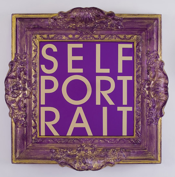 "Ultra Violet, Self Port Rait, 2014, 25 x 25"""