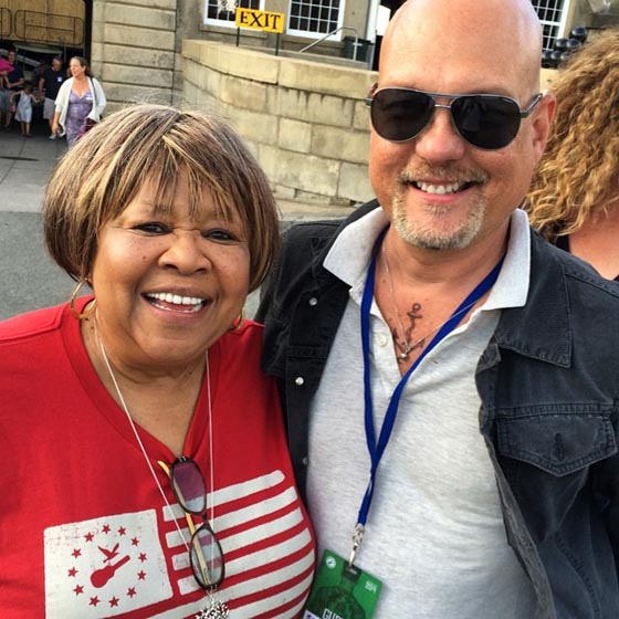 With legendary Mavis Staples on her 75th birthday