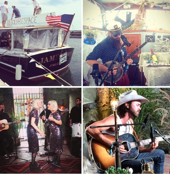 The SS Squarespace set sail with The Wild Honey Pie filming Tall Trees; both Lucius & Shakey Graves performances were filmed in Squarespace Studios by The Wild Honey Pie too