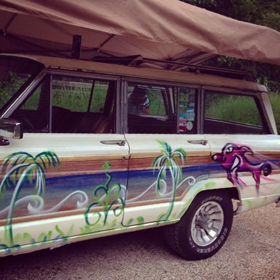 Jeff Slonim got Karmbombed by @kennyscharf at The Surf Lodge @jeffreyslonim