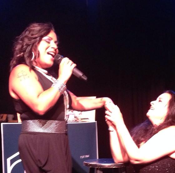 Sasha Sasha at Lisa Lisa's feet (I wonder if she'll take her home?) @sashacharninmorrison